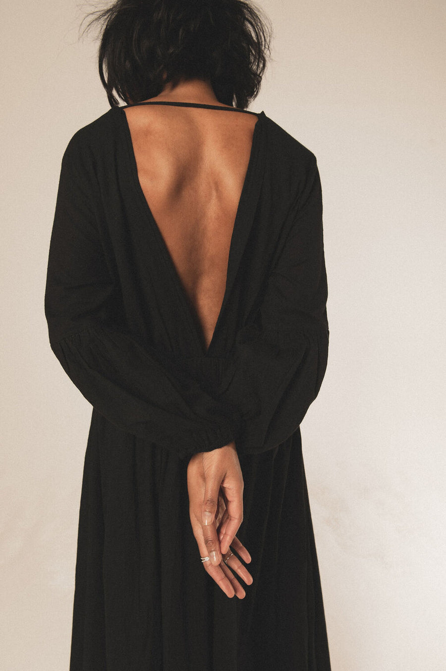 Wild Heart Organic Cotton Maxi Dress in Black - Pre Order