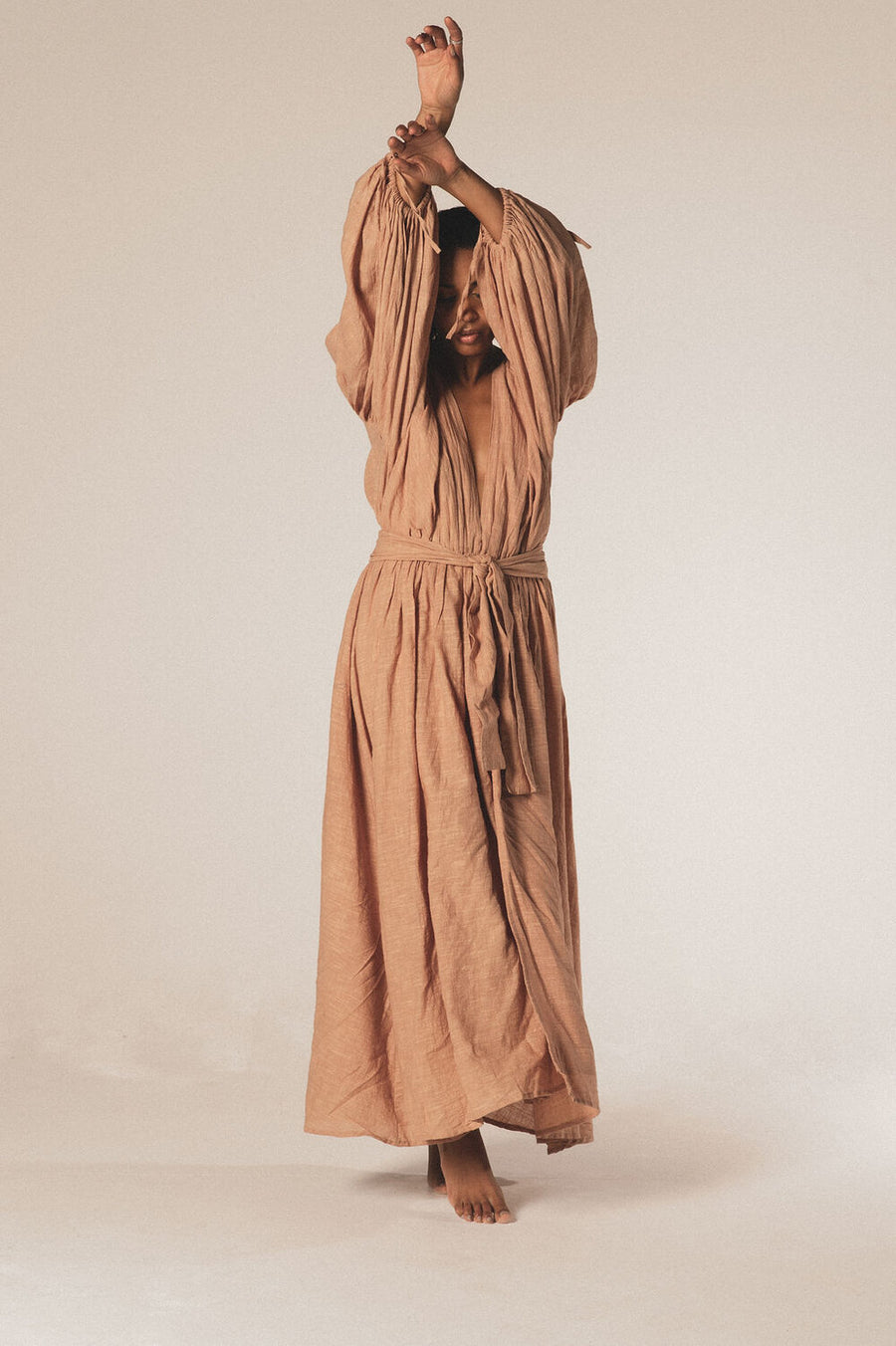Bohemia Organic Cotton Maxi Dress in Sandstone - Pre Order
