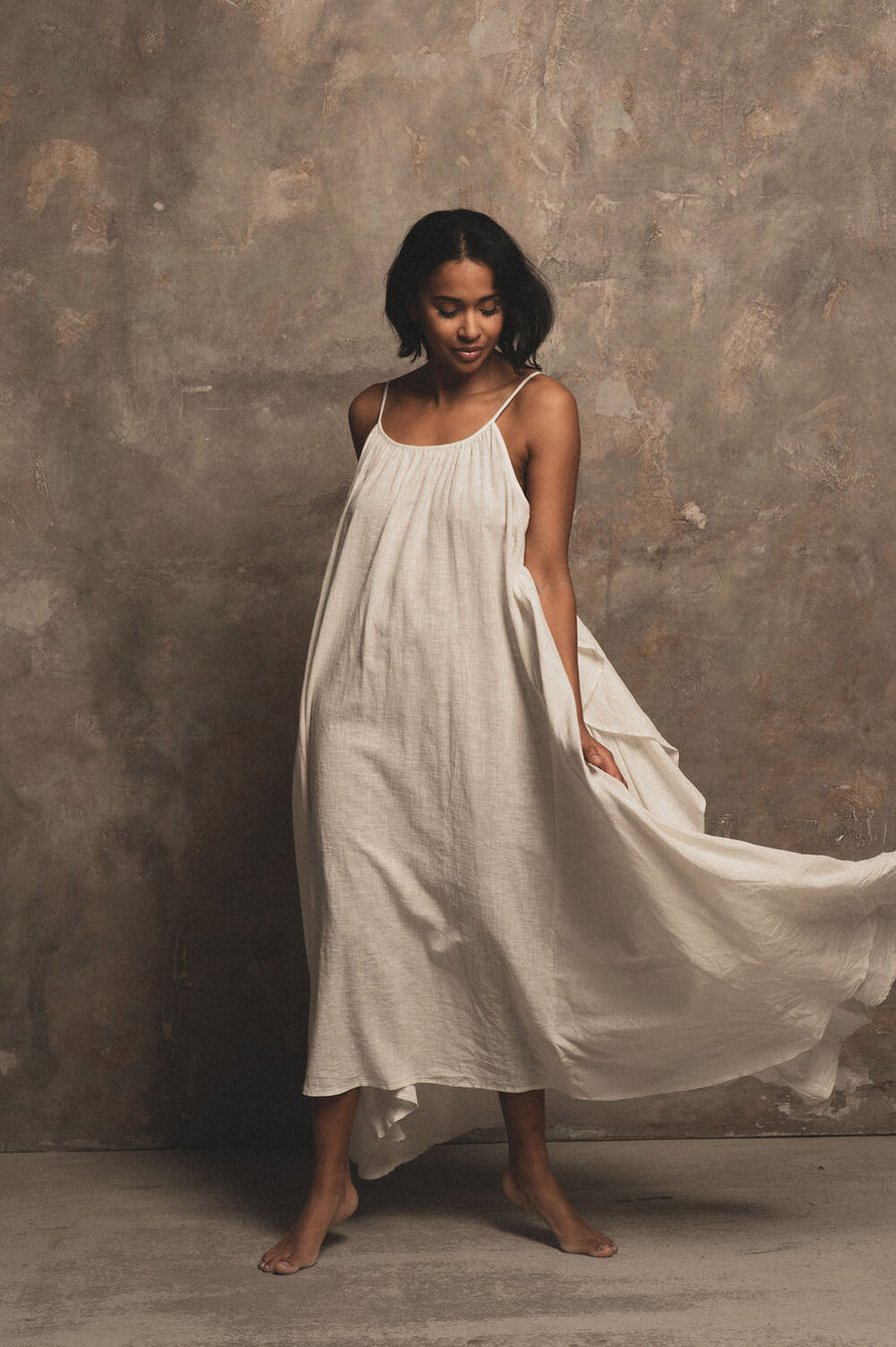 Syros Organic Cotton Maxi Dress in Milk - Pre Order