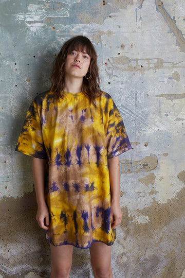 Organic Cotton Oversized Tie Dye T-Shirt Dress