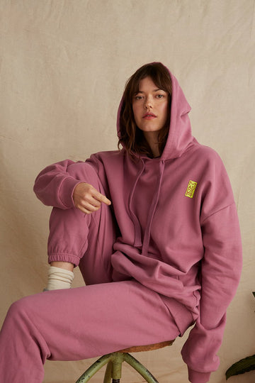 Organic Cotton Hoodie in Plum