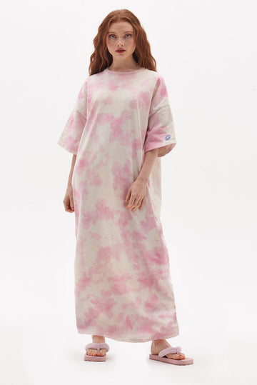 Organic Cotton Tie Dye T-Shirt Maxi Dress