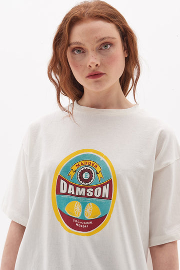 Organic Cotton Damson Madder Fruit T-Shirt