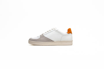Eden V2  Vegan Sustainable Sneaker in White / Orange