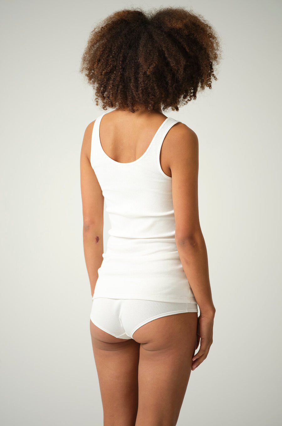 Annie and Bettie Organic Cotton Tank & Short Set in Black or Natural White