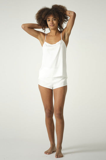 Bamboo Silk Sleep Set in Black or Natural White