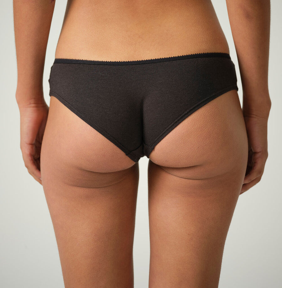 Jane Organic Cotton and Bamboo Bikini Brief in Black or Natural White