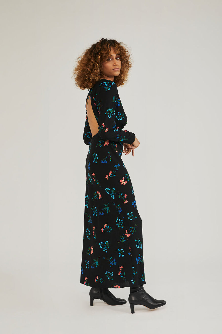 Frankie Long Sleeve Maxi Dress in Floral Print