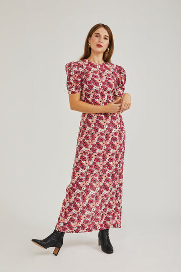 Falcus Maxi Dress in Floral Print
