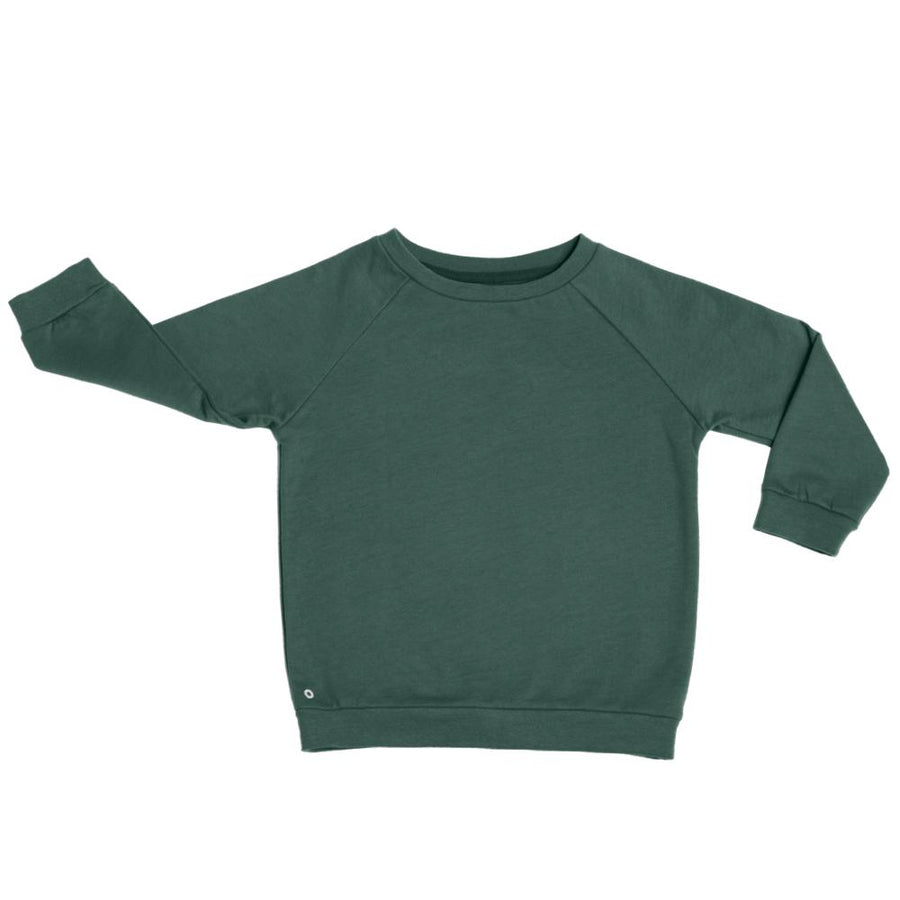 Oh-So Cosy Organic Cotton Sweatshirt in Forest Green