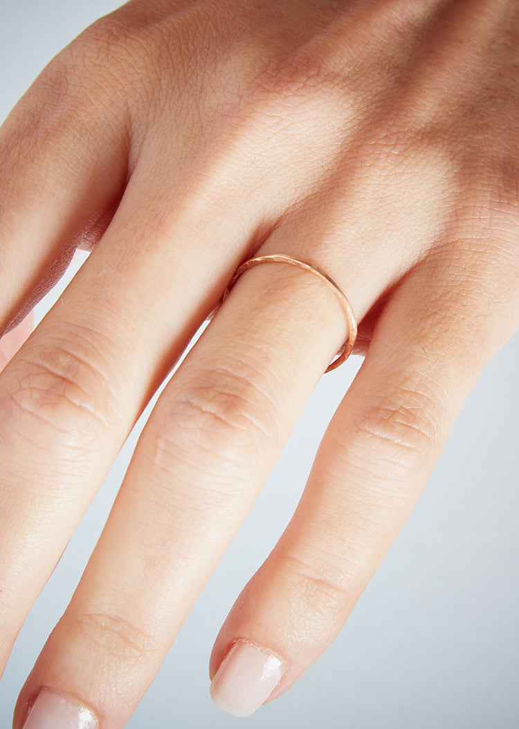 Rose Gold Hidden Orbit Ring