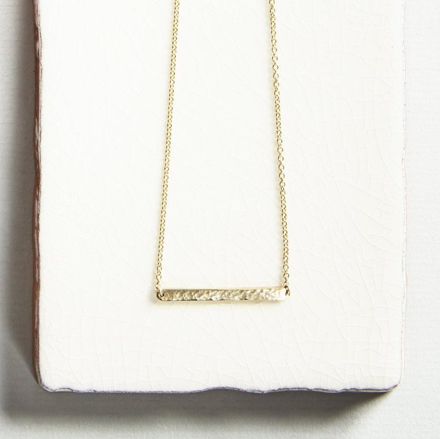 Gold Horizon Bar Necklace