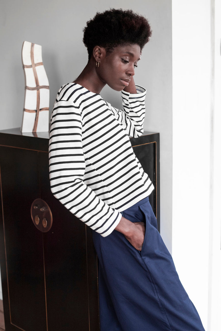 Organic Cotton Striped Long Sleeve T-Shirt
