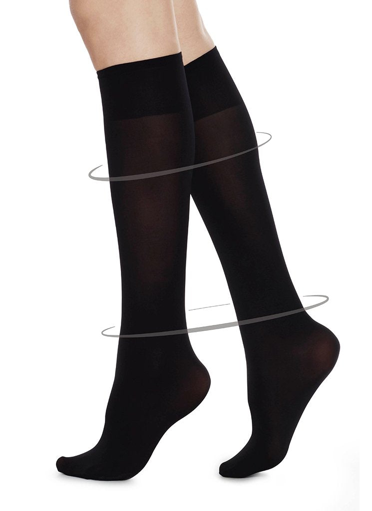 Irma Support Knee-High Socks in Black
