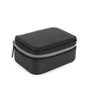 Vegan Leather Jewellery Box in Black