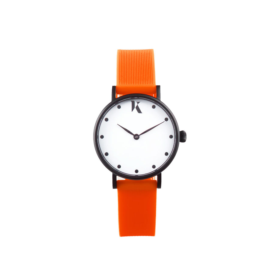 Vegan Neon Orange 30mm Face Watch