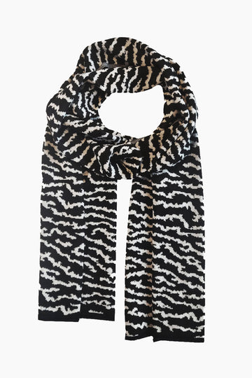 Lake Touch Organic Wool Scarf - B/W