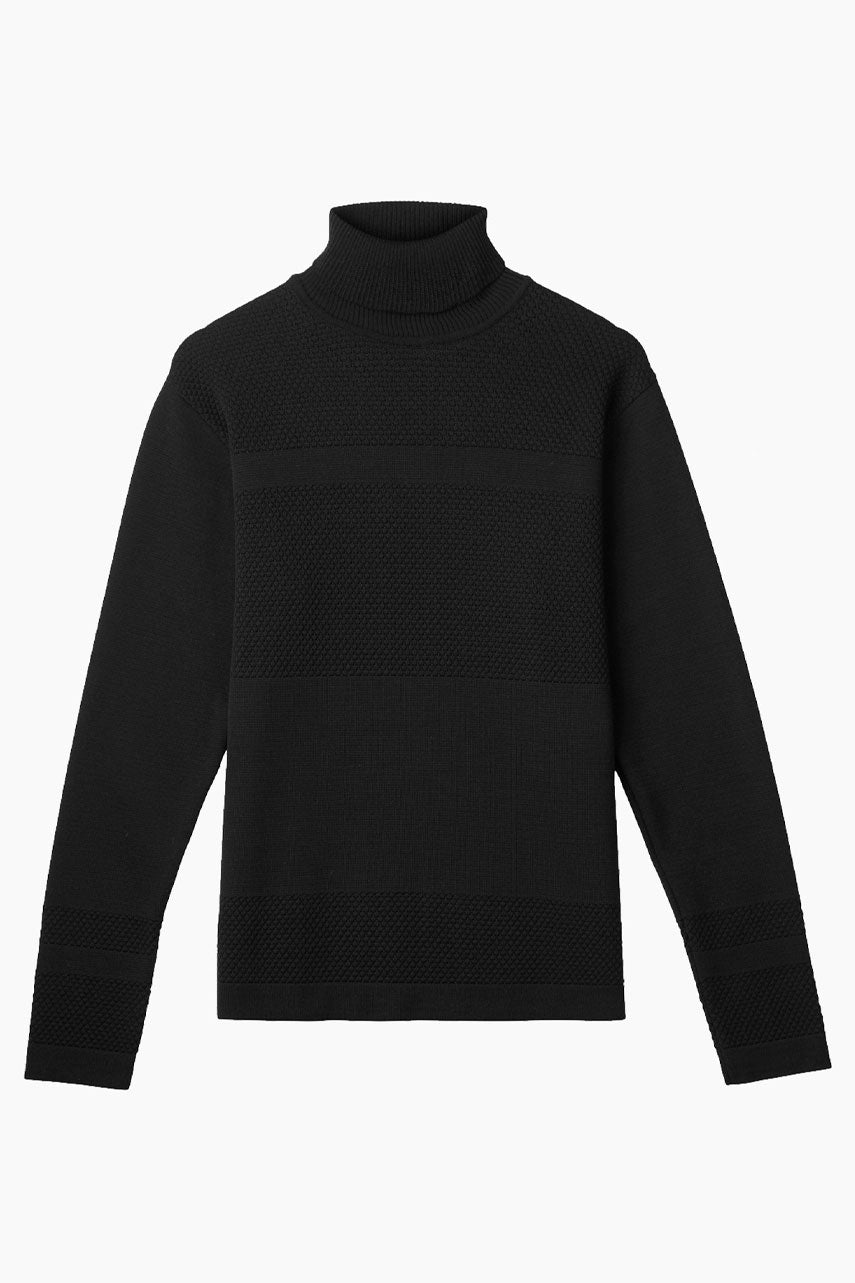 Wex Sailor Organic Wool Turtleneck - Black