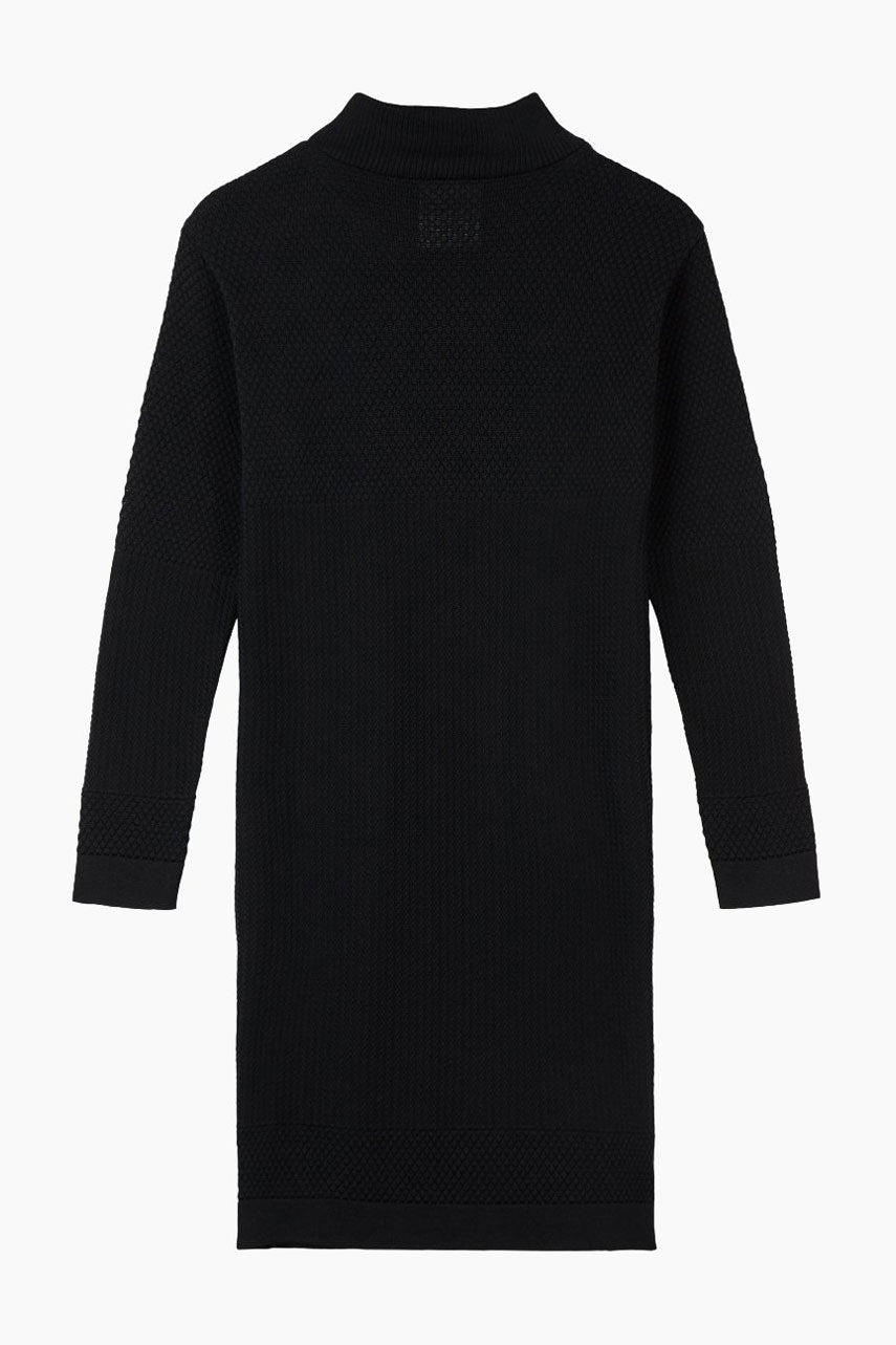 Fiord Seed Organic Wool Mini Dress - Black