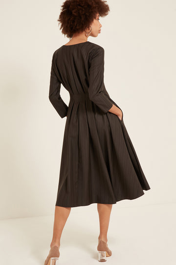 Sophia Dress in Pinstripe