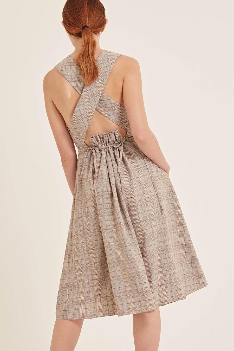 Aurora Dress in Soft Check