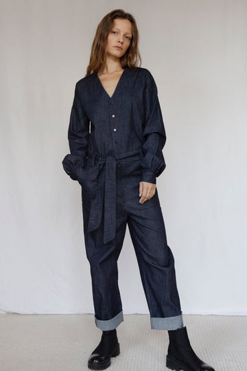 The Marshes Dark Blue Denim Jumpsuit