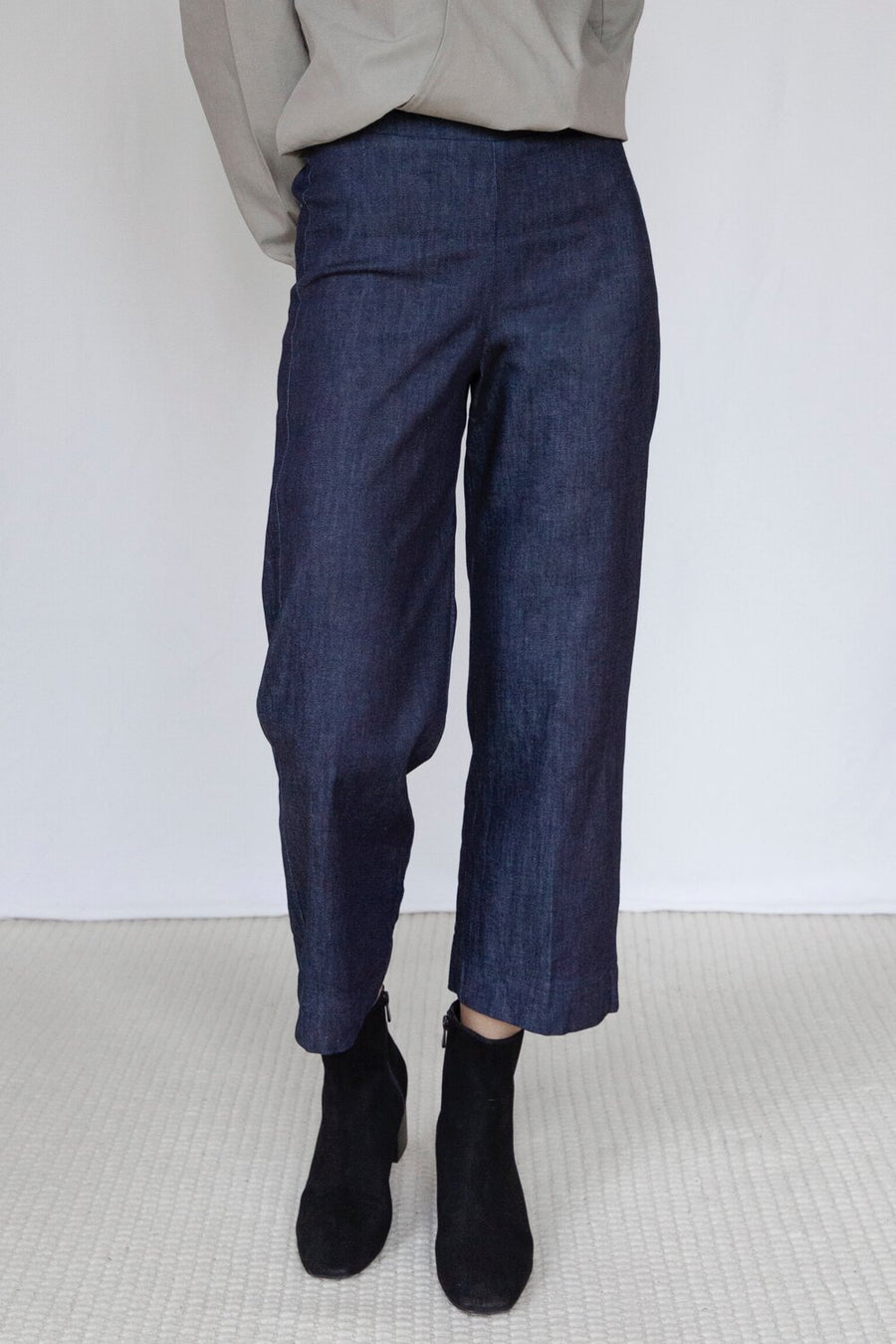 The Marshes Dark Blue Organic Cotton Denim Trousers