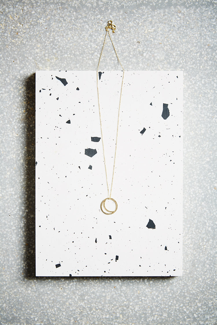 Gold Crescent Lune Necklace