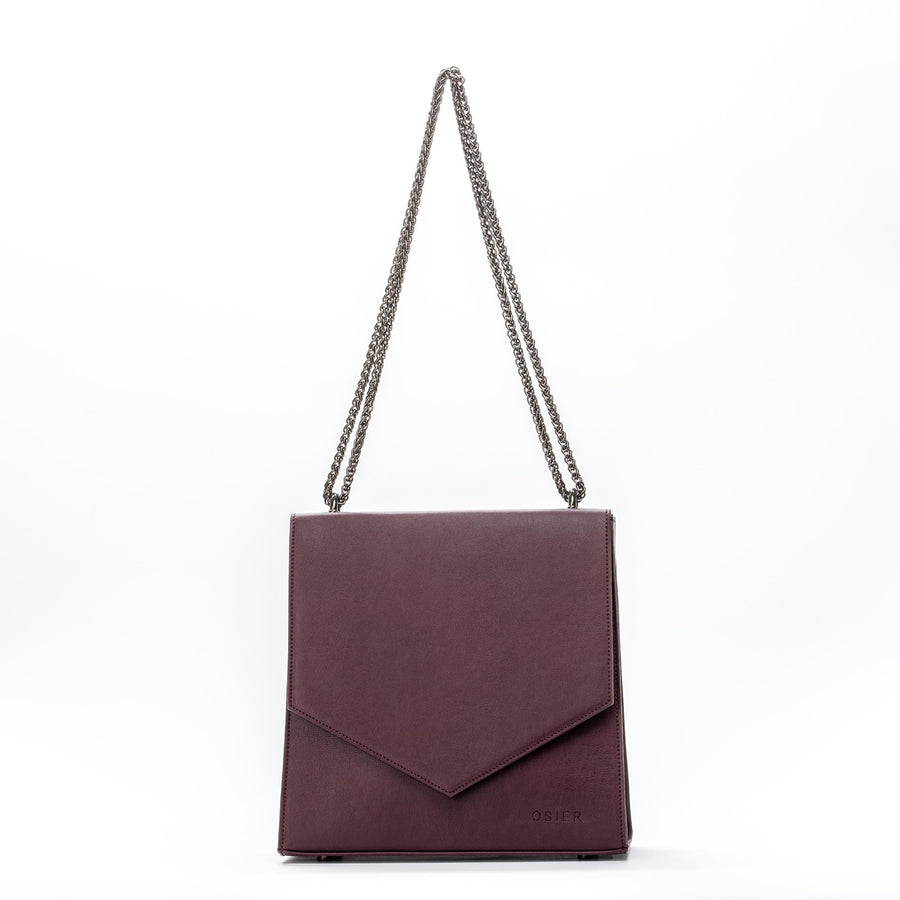 Jordaan Vegan Leather Bag in Burgundy