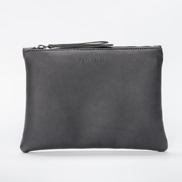 The 9 Streets Vegan Leather Zip Wallet in Black