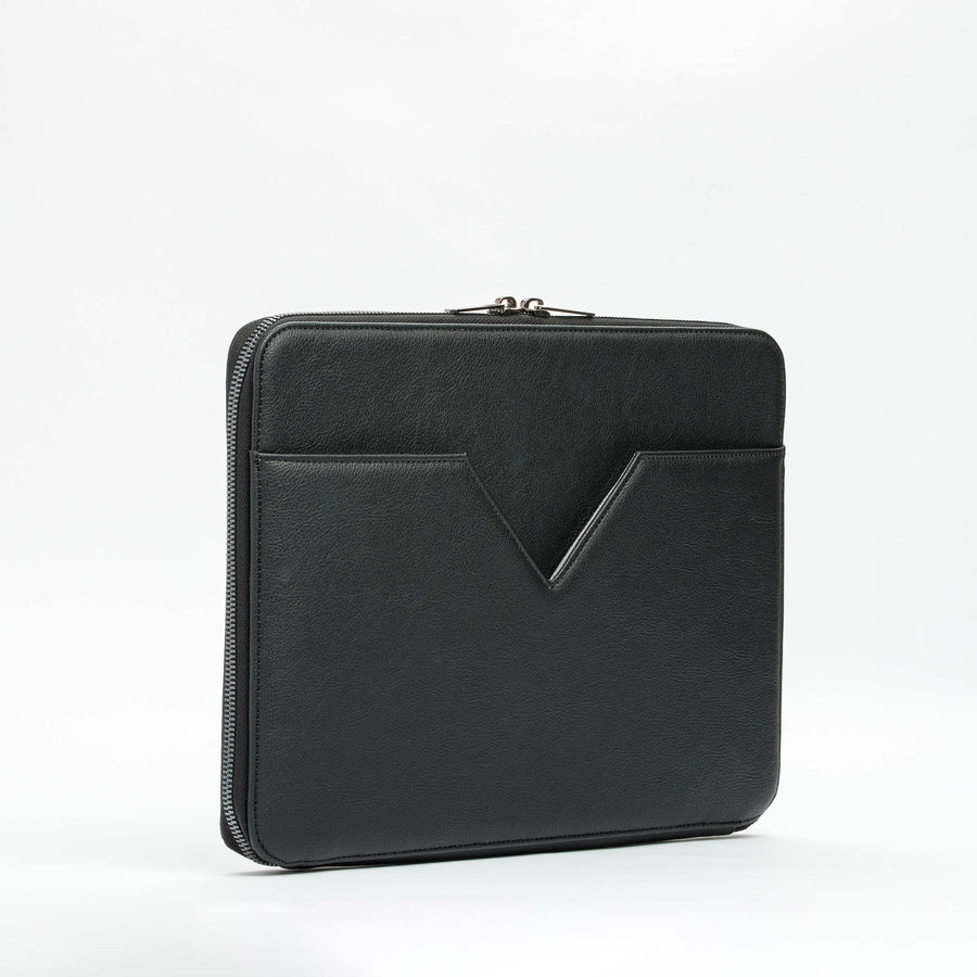 Rokin Vegan Leather Laptop Case in Black