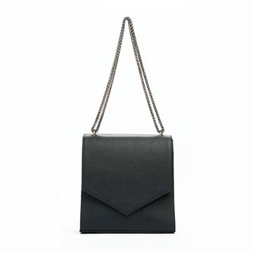 Jordaan Vegan Leather Bag in Black