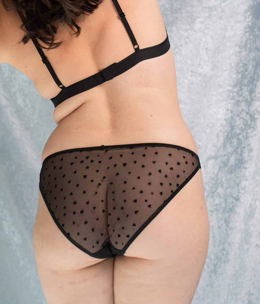 Amour Organic Cotton Briefs in Black