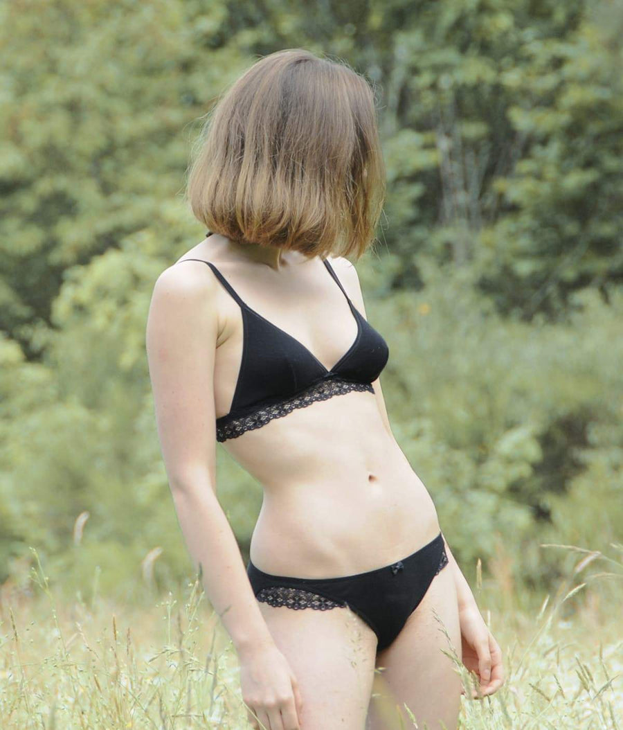 Casamance Organic Cotton Briefs in Black