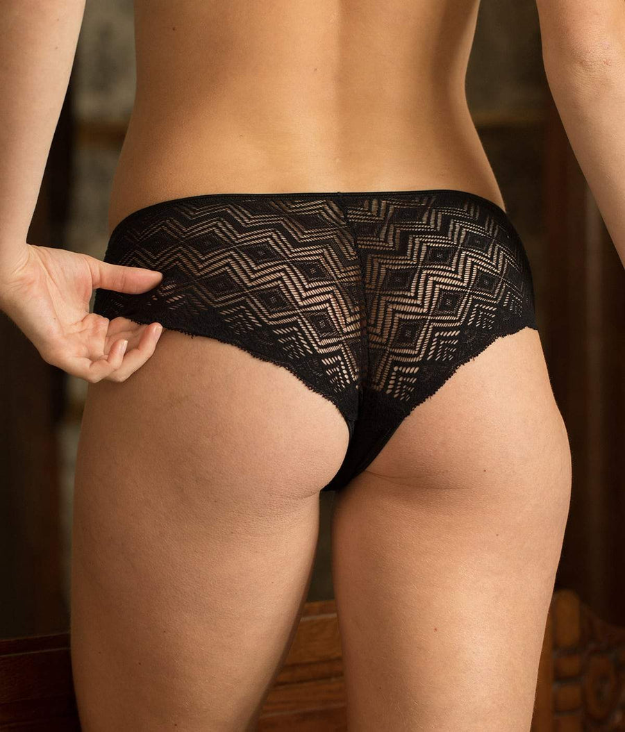 Dawa Organic Cotton Shorty Brazilian Briefs in Black