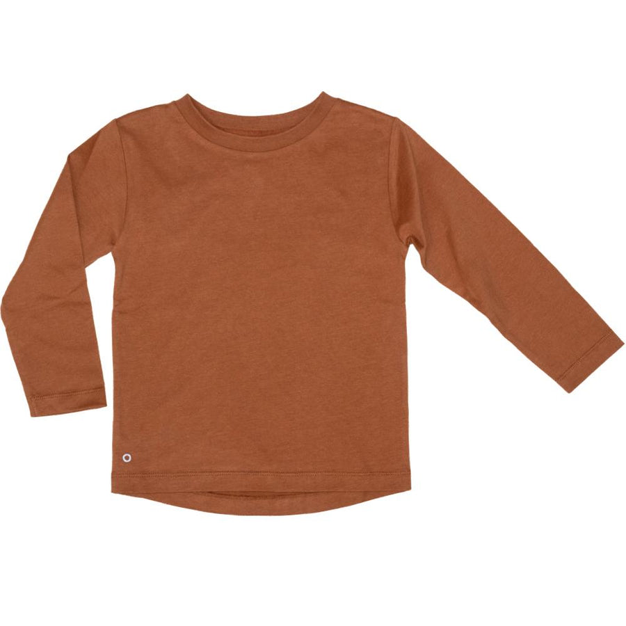 Mighty Long Sleeve Organic Cotton Top in Caramel Cookie