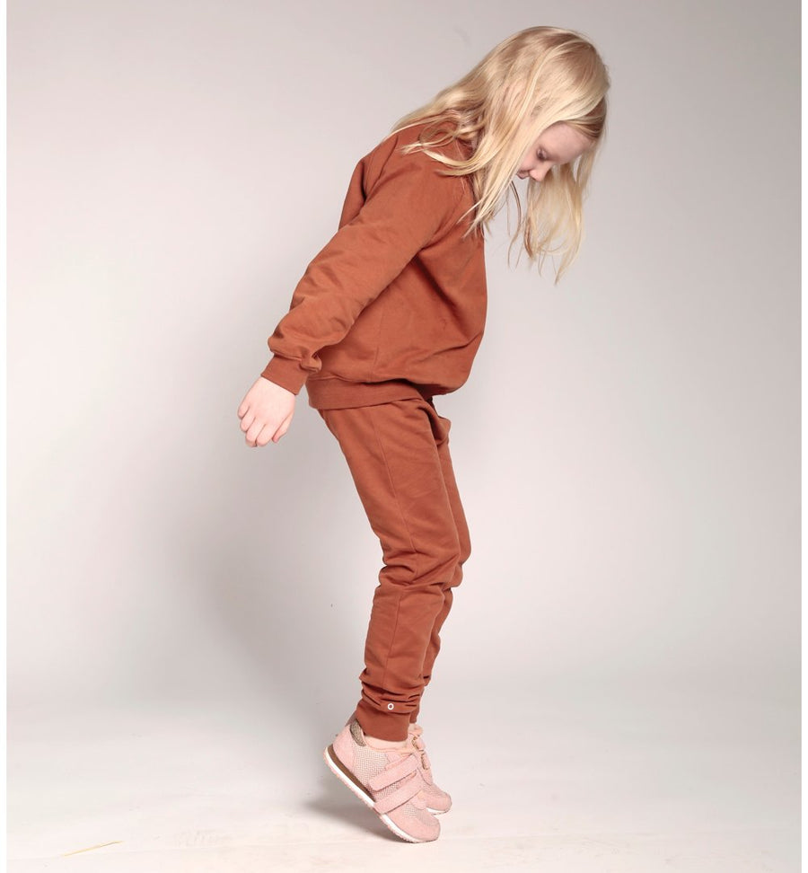 Zip-it-up Organic Cotton Sweatshirt in Caramel Cookie