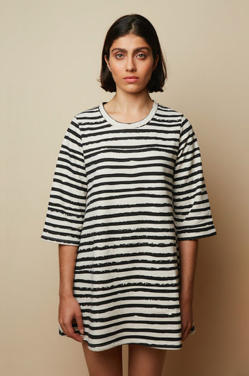 Organic Cotton Striped Oversized Dress