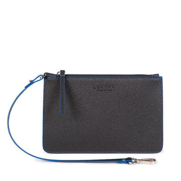 Vegan Leather Pouch in Black