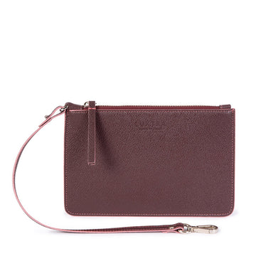 Vegan Leather Pouch in Burgundy