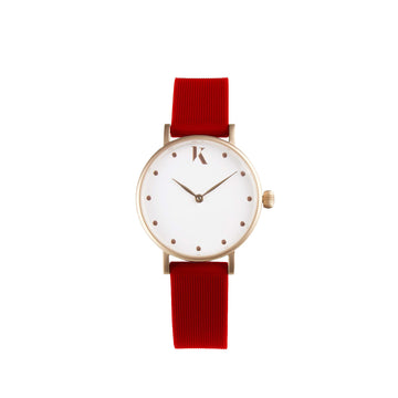 Vegan Ruby Red 30mm Face Watch