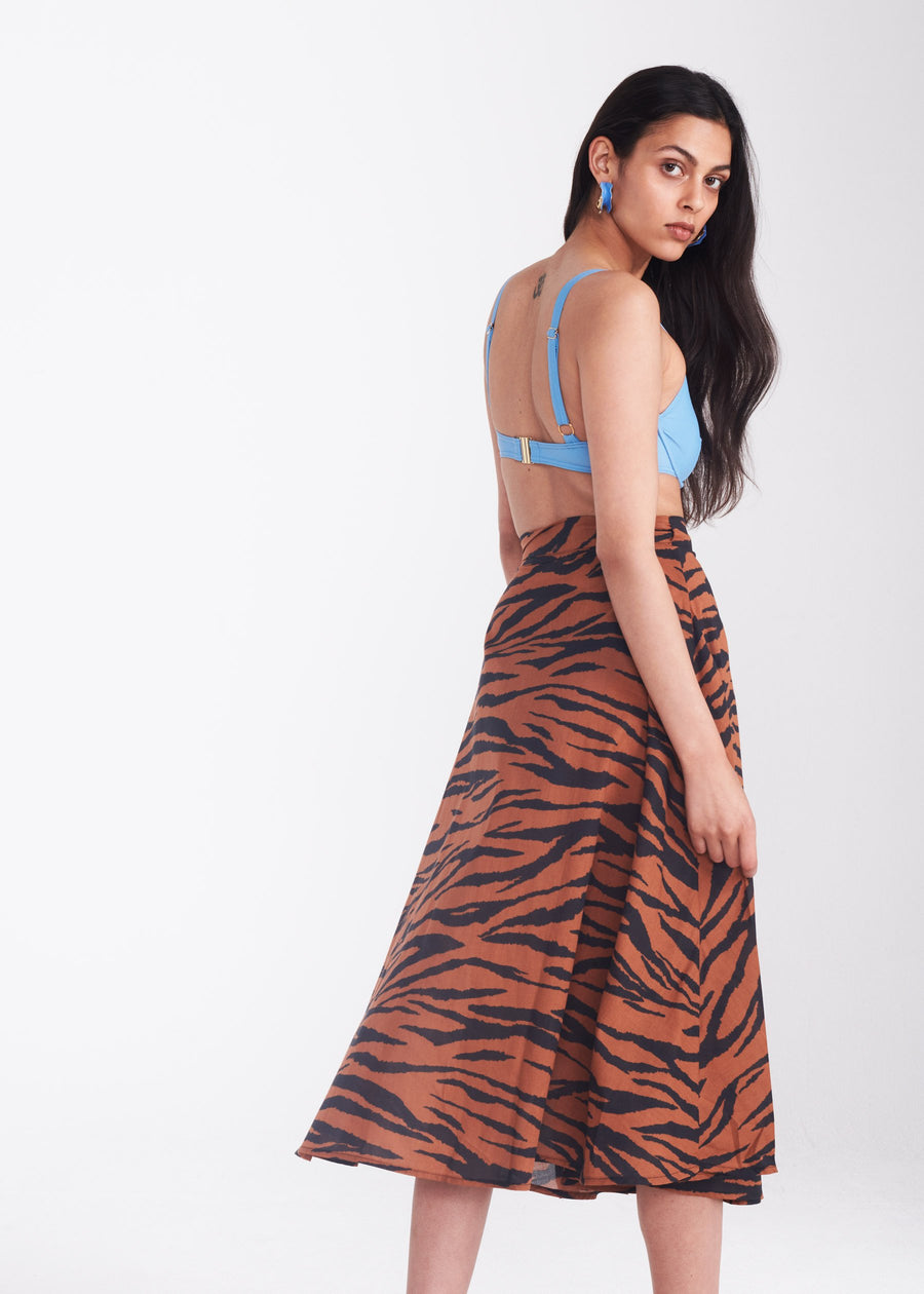 Jade Wrap Skirt in Animal