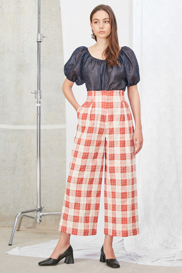 Andy Culottes in Orange Check