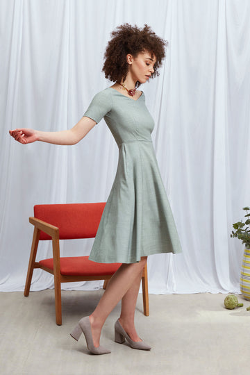 Judith Dress in Light Green