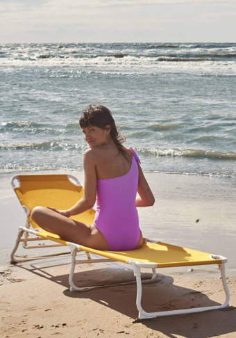 White Horse One Piece in Violet