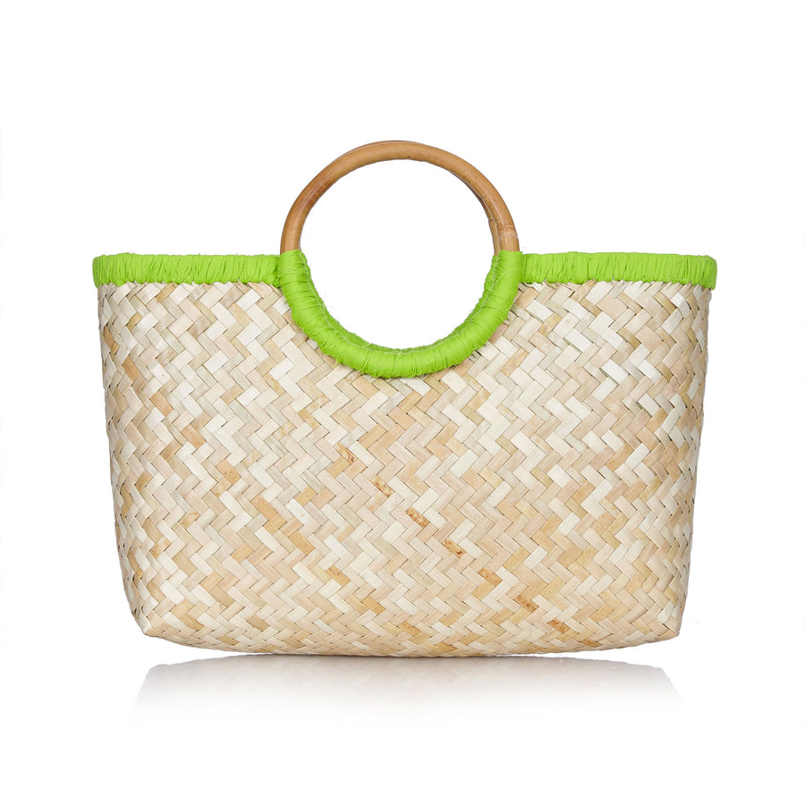 Island Life Basket in Sugar Cane Green
