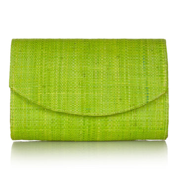 Sundown Clutch in Sugar Cane Green