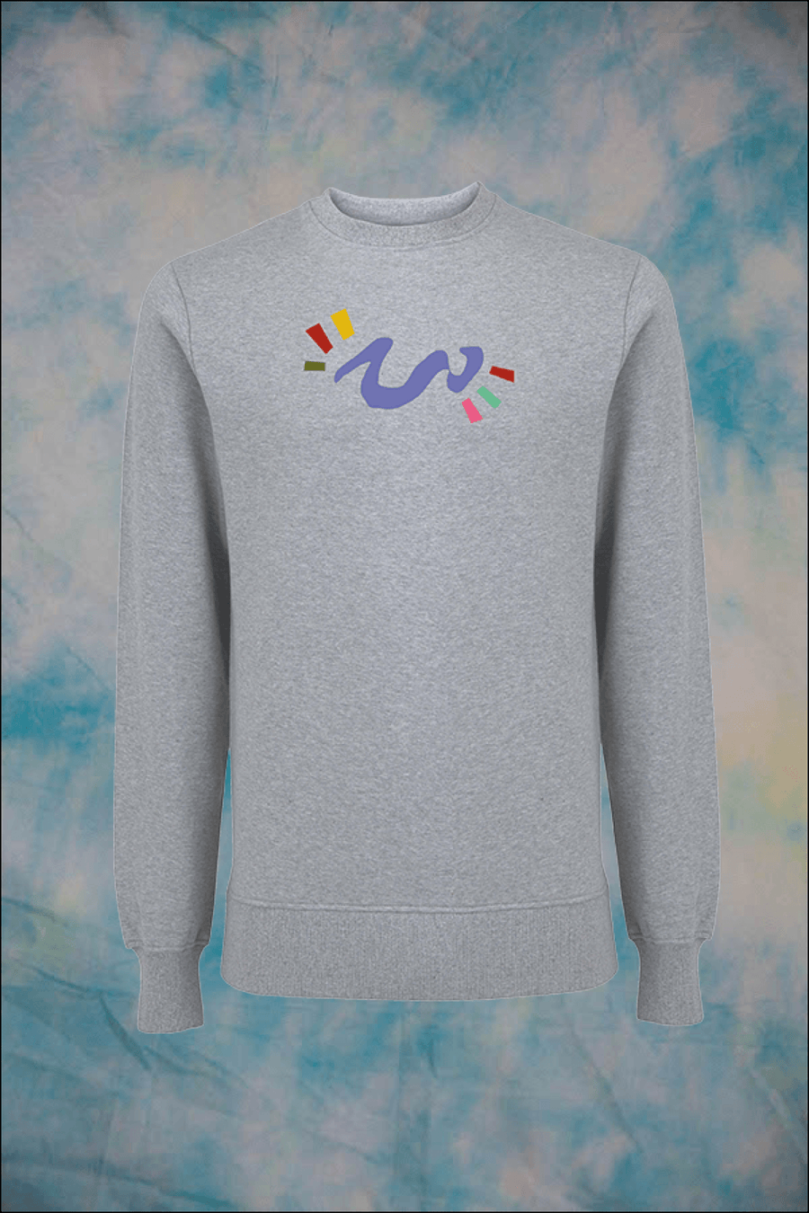 Unisex Abstract Scribble Organic Cotton Sweatshirt