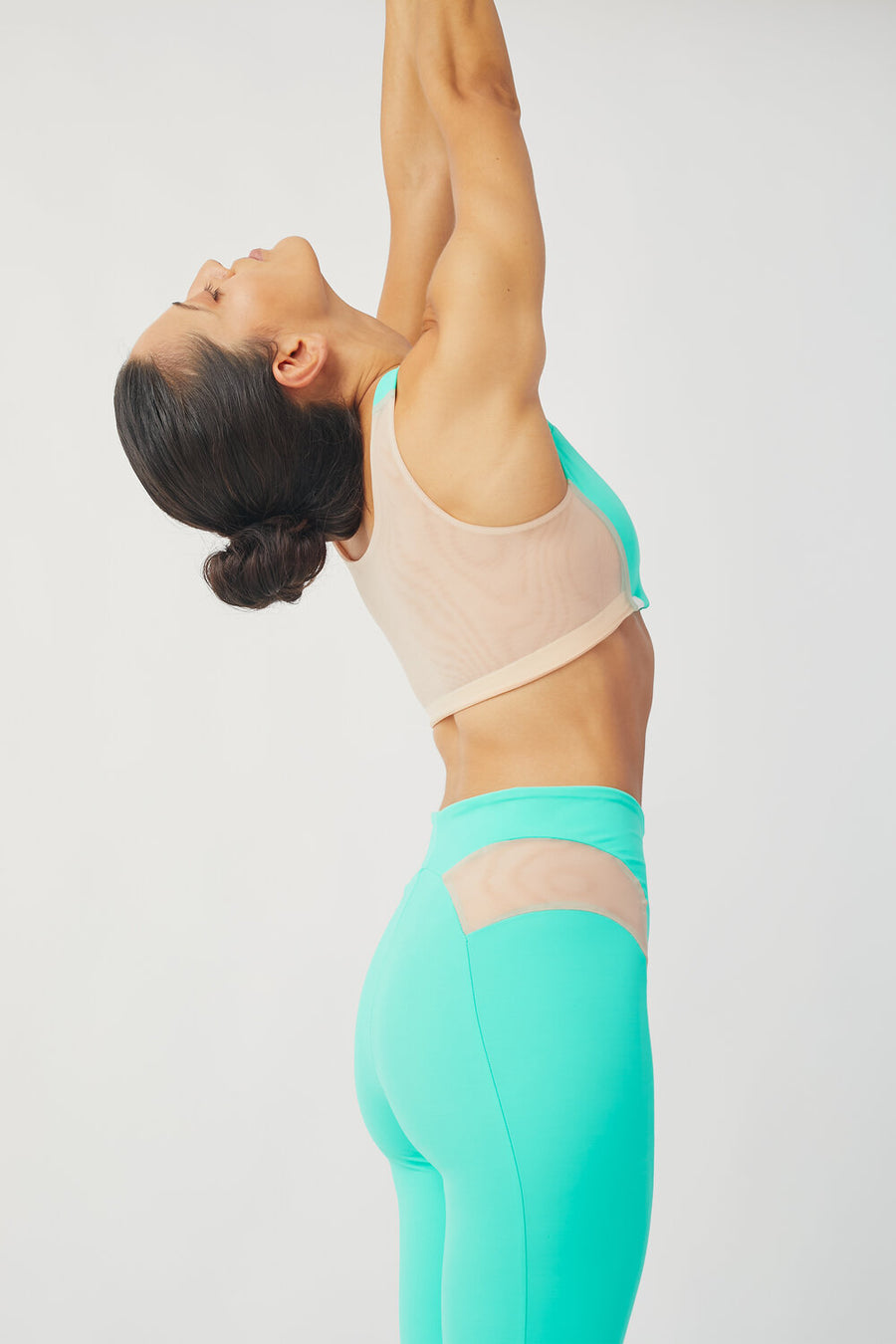 Recycled Lycra Active Bra in Mint