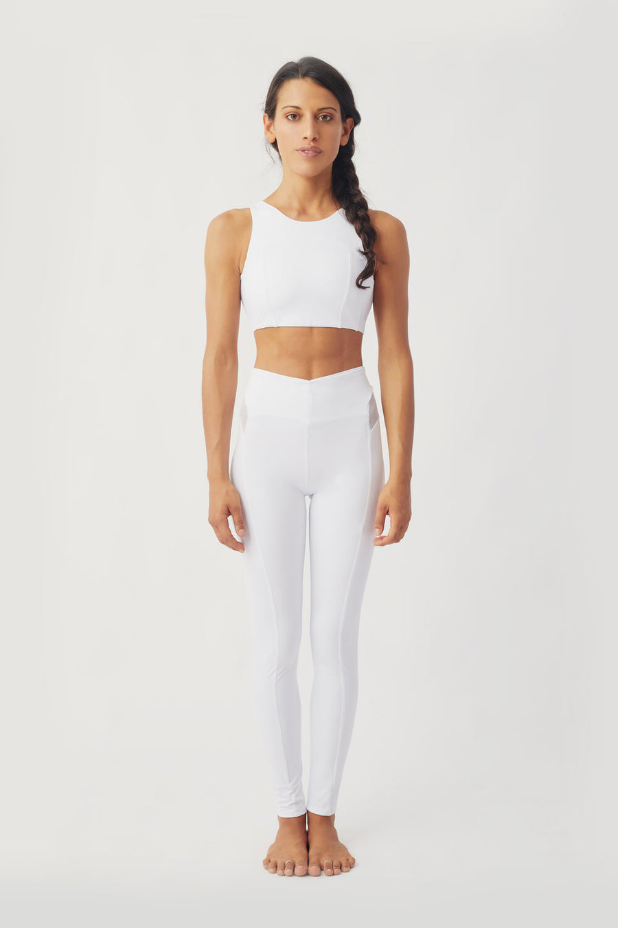 Neve Recycled Lycra Leggings in White